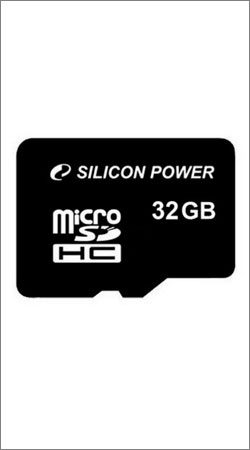 silicon power micro sdhc card 32gb class 4 + sd adapter (sp032gbsth004v10-sp)