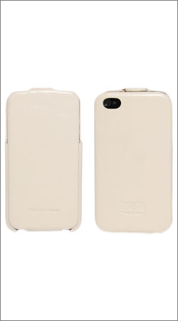 чехол для iphone 4 / 4s hoco case leather (белый)