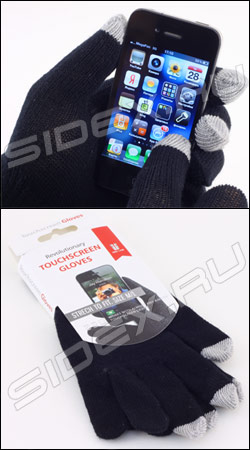 �������� ��� ��������� ��������� ������� touchscreen gloves m-l red line