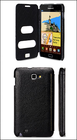 чехол для samsung galaxy note n7000 melkco jacka type-face cover id book type black lc (черный)