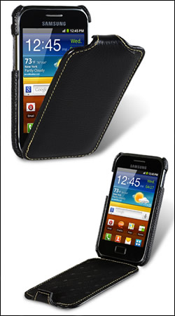чехол для samsung galaxy ace plus s7500 melkco jacka type black lc (черный)