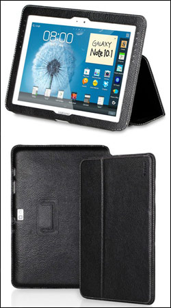 чехол для samsung galaxy note 10.1 n8000 yoobao executive leather case (черный)