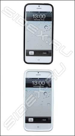 ����������� ����� ��� iphone 5 / 5s (muvit minigel glozy muski0090) (������ � ����� 2 ��)