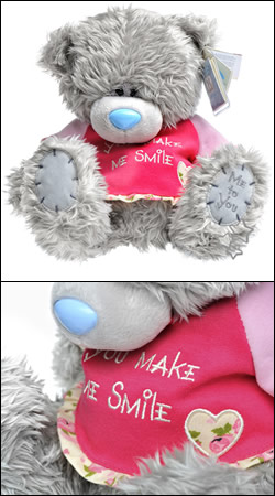 мишка teddy me to you в малиновой футболке you make me smile (25 см)