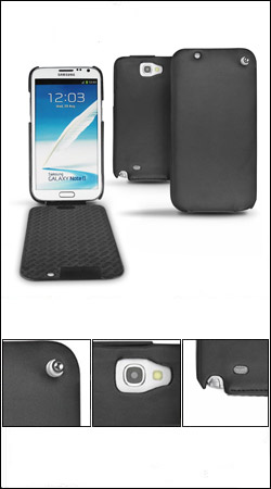 чехол для samsung galaxy note 2 n7100 noreve leather case 21147t20 (черный)