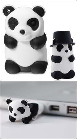bone collection panda driver 8gb usb ������ dr08022-8w with hat (����� ����� � ������ �����)