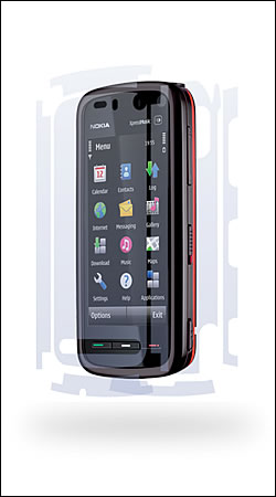 clear armor nokia 5800 xpressmusic защитная пленка для nokia 5800 xpressmusic case-mate