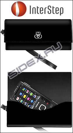чехол interstep fey business p37 htc desire s / samsung s5830 / iphone 4g черный 105x55 мм