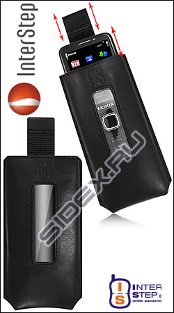 чехол interstep pocket gap p93 samsung i9100 galaxy s2 черный 125x70 мм