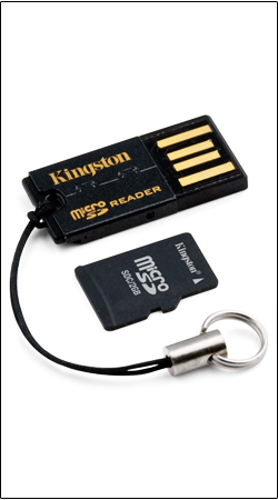 microsdhc 16gb kingston mrg2+sdc4/16gb + usb адаптер