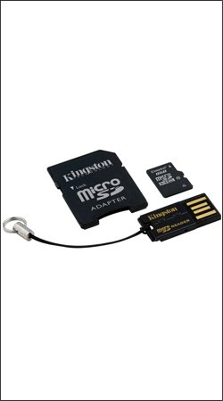 kingston mbly10g2/8gb microsdhc 8gb + usb адаптер + адаптер sd
