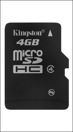 kingston sdc4/4gbsp microsdhc 4gb