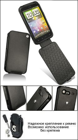 чехол для htc incredible s noreve (черный) 21547t1