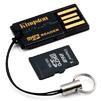 MicroSDHC 4GB Kingston MRG2+SDC4/4GB + USB адаптер