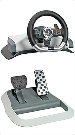 microsoft wireless racing wheel xbox руль с педалями (9z1-00020) руль для xbox
