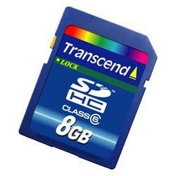 Transcend SDHC 8ГБ класс 6 (TS8GSDHC6)