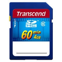 sd sdhc transcend 4gb video class 6 (ts4gsdhc6v)