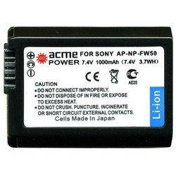 Аккумулятор для Sony Alpha NEX-3, NEX-5, NEX-C3, SLT-A33, SLT-A35, SLT-A55V AcmePower AP NP-FW50 850mAh