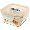 Контейнер пищевой Glasslock ORST-044 (440 мл) (стекло) - Посуда для готовкиПосуда для готовки<br>Glasslock ORST-044 - пищевой контейнер, форма квадратная, объем 440 мл, материал ударопрочное закаленное стекло, крышка с защелками, использование в СВЧ, размеры: 109х109х60 мм.<br>