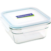 Контейнер пищевой Glasslock OCST-090 (900 мл) (стекло)  - Посуда для готовкиПосуда для готовки<br>Glasslock OCST-090 - пищевой контейнер, форма квадратная, объем 900 мл, материал ударопрочное закаленное стекло, крышка с защелками, использование в СВЧ, размеры: 68x148x148 мм.<br>