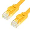 Патч-корд UTP кат. 6, RJ45 1.0м (Greenconnect GCR-LNC622-1.0m) (желтый) - КабельСетевые аксессуары<br>Патч-корд, плоский, прямой, длина 1.0 м, UTP, медь, кат.6, позолоченные контакты, 30 AWG, 10 Гбит/с, RJ45, T568B.<br>