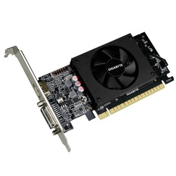 GIGABYTE GeForce GT 710 954Mhz PCI-E 2.0 2048Mb 5010Mhz 64 bit DVI HDMI HDCP RTL