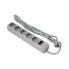 Сетевой фильтр 5 розеток 1.8м (Exegate SP-5-1.8G) (серый) - Сетевой фильтрСетевые фильтры<br>5 розеток с заземлением, тип защиты: термопрерыватель, совмещенный с выключателем, длина кабеля 1.8м.<br>