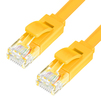 Патч-корд UTP кат. 6, RJ45 7.5м (Greenconnect GCR-LNC622-7.5m) (желтый)  - КабельСетевые аксессуары<br>Патч-корд, плоский, прямой, длина 7.5 м, UTP, медь, кат.6, позолоченные контакты, 30 AWG, 10 Гбит/с, RJ45, T568B.<br>