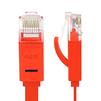 Патч-корд UTP кат. 6, RJ45 0.15м (Greenconnect GCR-LNC624-0.15m) (красный) - КабельСетевые аксессуары<br>Патч-корд, плоский, прямой, длина 0.15м, UTP, медь, кат.6, позолоченные контакты, 30 AWG, 10 Гбит/с, RJ45, T568B.<br>