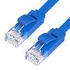 Патч-корд UTP кат. 6, RJ45 0.5м (Greenconnect GCR-LNC621-0.5m) (синий) - КабельСетевые аксессуары<br>Greenconnect GCR-LNC621-0.5m - патч-корд, плоский, прямой, длина 0.5м, UTP, медь, кат.6, позолоченные контакты, 30 AWG, 10 Гбит/с, RJ45, T568B.<br>