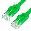 Патч-корд UTP кат. 6, RJ45 2м (Greenconnect GCR-LNC625-2.0m) (зеленый) - КабельСетевые аксессуары<br>Патч-корд, плоский, прямой, длина 2 м, UTP, медь, кат.6, позолоченные контакты, 30 AWG, 10 Гбит/с, RJ45, T568B.<br>