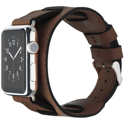 Ремешок для Apple Watch 42mm (Cozistyle Wide Leather Band CWLB12) (коричневый)