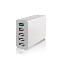 Универсальное сетевое зарядное устройство, адаптер 5хUSB, 9.4 А (Gmini GM-WC-005QC) (белый)