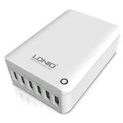 Универсальное сетевое зарядное устройство, адаптер 6хUSB, 7А (LDNIO A6703) (белый)