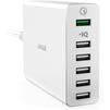 Универсальное сетевое зарядное устройство, адаптер 6хUSB (Anker PowerPort+ 6 A2063L21) (белый) - Сетевой адаптер 220v - USB, ПрикуривательСетевые адаптеры 220v - USB, Прикуриватель<br>Это сетевое зарядное устройство с 6 выходными разъемами типа USB. Совместим с смартфонами и планшетами.<br>