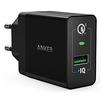 Универсальное сетевое зарядное устройство, адаптер 1хUSB, 2А (Anker PowerPort+ 18W B2013L11) (черный) - Сетевой адаптер 220v - USB, ПрикуривательСетевые адаптеры 220v - USB, Прикуриватель<br>Anker PowerPort+ 18W B2013L11 - способно обеспечить быструю подзарядку портативных гаджетов. Модель имеет выходной разъем USB тип A, а подключение к сети центрального электроснабжения осуществляется посредством встроенной евровилки.<br>