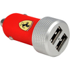 Универсальное автомобильное зарядное устройство, адаптер 2хUSB, 2.1A (Ferrari Slim Rubber Dual FERUCC2UMIRE) - Автомобильный адаптерАвтомобильные адаптеры 12v - USB<br>Аксессуар для зарядки устройства от автомобильного прикуривателя. С его помощью можно заряжать смартфоны, планшеты, портативные плееры, подключать навигаторы, видеорегистраторы и многие другие устройства.<br>