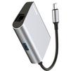 Концентратор USB 3.0, RJ45 (Baseus Enjoyment series CATSX-B0G) (серый) - USB HUBUSB HUB<br>Концентратор Baseus Enjoyment series CATSX-B0G - пассивный, сочетающий в себе порт USB 3.0, RJ45 и подключение USB-C.<br>