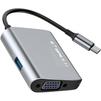 Концентратор USB 3.0, VGA (Baseus Enjoyment series CATSX-E0G) (серый) - USB HUBUSB HUB<br>Концентратор Baseus Enjoyment series CATSX-E0G - пассивный, сочетающий в себе порт USB 3.0, VGA и подключение USB-C.<br>