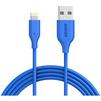 Кабель Lightning-USB для Apple iPhone 5, 5C, 5S, SE, 6, 6 plus, 6S, 6S plus, 7, 7 plus, iPad 4, Air, Air 2, mini, mini 2, 3, 4, PRO 12.9, PRO 9.7, iPod Nano 7gen, Touch 5Gen (Anker PowerLine A8112H31) (голубой) - Usb, hdmi кабель, переходникUSB-, HDMI-кабели, переходники<br>Кабель с разъемами Lightning-USB, усилен кевларовым волокном, благодаря увеличенному диаметру провода и пониженным сопротивлением даёт максимально возможную скорость заряда, имеет сертификат MFi.<br>