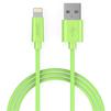 Кабель Lightning-USB для Apple iPhone 5, 5C, 5S, SE, 6, 6 plus, 6S, 6S plus, 7, 7 plus, iPad 4, Air, Air 2, mini, mini 2, 3, 4, PRO 12.9, PRO 9.7, iPod Nano 7gen, Touch 5Gen (Aukey CB-D20) (зеленый) - Usb, hdmi кабельUSB-, HDMI-кабели, переходники<br>Кабель с разъемами Lightning-USB предназначен для зарядки и передачи данных на iPhone, iPod, iPad, имеет сертификат MFi, длина 1 метр.<br>