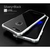 Чехол бампер для Apple iPhone 7 (Luphie Toughend Glass Back + Metal Frame) (серебристый, черный) - Чехол для телефонаЧехлы для мобильных телефонов<br>Чехол-бампер обеспечивает надежную защиту корпуса смартфона от грязи, царапин, потертостей и других негативных внешних воздействий.<br>