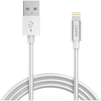 Кабель Lightning-USB для Apple iPhone 5, 5C, 5S, SE, 6, 6 plus, 6S, 6S plus, 7, 7 plus, iPad 4, Air, Air 2, mini, mini 2, 3, 4, PRO 12.9, PRO 9.7, iPod Nano 7gen, Touch 5Gen (Aukey CB-D16) (серый) - Usb, hdmi кабельUSB-, HDMI-кабели, переходники<br>Кабель с разъемами Lightning-USB предназначен для зарядки и передачи данных на iPhone, iPod, iPad, имеет сертификат MFi, длина 1.2 метра.<br>