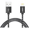 Кабель Lightning-USB для Apple iPhone 5, 5C, 5S, SE, 6, 6 plus, 6S, 6S plus, 7, 7 plus, iPad 4, Air, Air 2, mini, mini 2, 3, 4, PRO 12.9, PRO 9.7, iPod Nano 7gen, Touch 5Gen (Aukey CB-D16 Retail) (черный) - Usb, hdmi кабель, переходникUSB-, HDMI-кабели, переходники<br>Кабель с разъемами Lightning-USB предназначен для зарядки и передачи данных на iPhone, iPod, iPad, имеет сертификат MFi, длина 1.2 метра.<br>