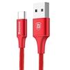 Кабель USB 2.0-USB Type-C 2м (Baseus Rapid Series CATSU-C09) (красный) - Usb, hdmi кабельUSB-, HDMI-кабели, переходники<br>Кабель для синхронизации и заряда аккумулятора, протокол: USB 2.0, ток нагрузки: 2А, алюминиевые коннекторы, нейлоновая оплетка, длина кабеля: 2 м.<br>