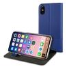 Чехол-книжка для Apple iPhone X (Muvit Folio Stand MUFLS0137) (синий) - Чехол для телефонаЧехлы для мобильных телефонов<br>Чехол плотно облегает корпус и гарантирует надежную защиту от царапин и потертостей.<br>
