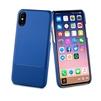 Чехол-накладка для Apple iPhone X (Muvit Skin MUBKC0958) (синий) - Чехол для телефонаЧехлы для мобильных телефонов<br>Чехол плотно облегает корпус и гарантирует надежную защиту от царапин и потертостей.<br>