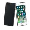 Чехол-накладка для Apple iPhone 7, 8 (Muvit Carbon MUBKC0950) (черный) - Чехол для телефонаЧехлы для мобильных телефонов<br>Чехол плотно облегает корпус и гарантирует надежную защиту от царапин и потертостей.<br>