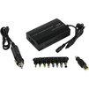 Универсальное зарядное устройство ORIENT PU-MC100W (черный) - Сетевая, автомобильная зарядка для ноутбукаСетевые и автомобильные зарядки для ноутбуков<br>Универсальный адаптер питания для ноутбуков, 12-24 В, 100 Вт, USB порт 1A. Сменных коннекторов 9 (8+Lenovo), переключение вручную, автомобильный адаптер, защита от короткого замыкания и перегрузки.<br>