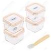 Набор контейнеров Glasslock GL-657 - Посуда для готовкиПосуда для готовки<br>Набор контейнеров - 4 штуки, 210 мл, силиконовая ложка, закаленное стекло.<br>